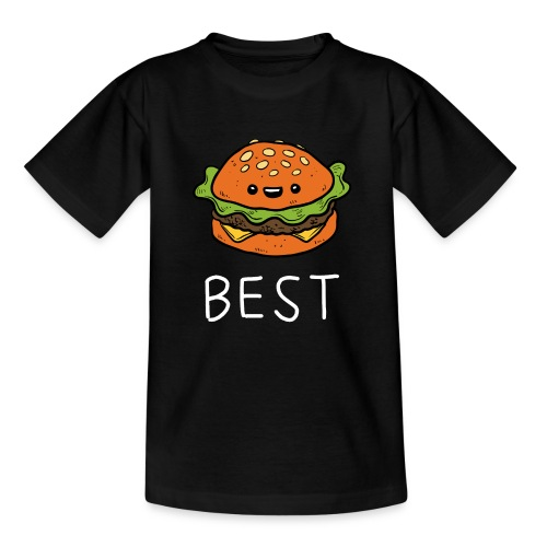 Beste Friends Burger und Pommes Partnerlook - Kinder T-Shirt