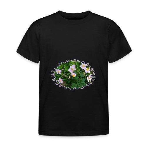 Blümchen hellviolett - Kinder T-Shirt