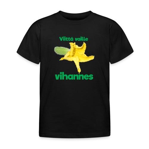 Viittä vaille vihannes, avomaankurkku - Lasten t-paita