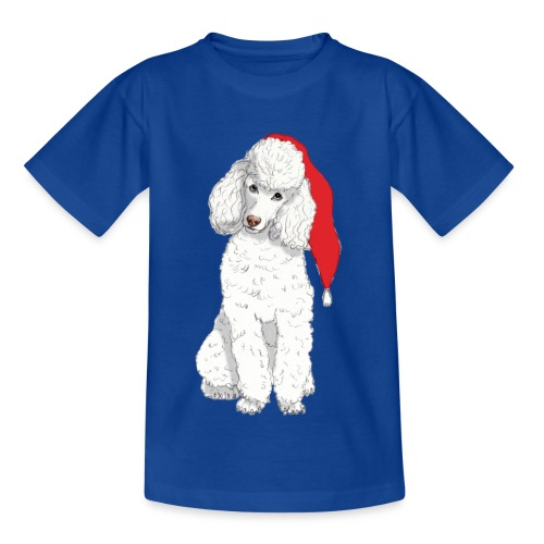 Poodle toy W - christmas - Børne-T-shirt