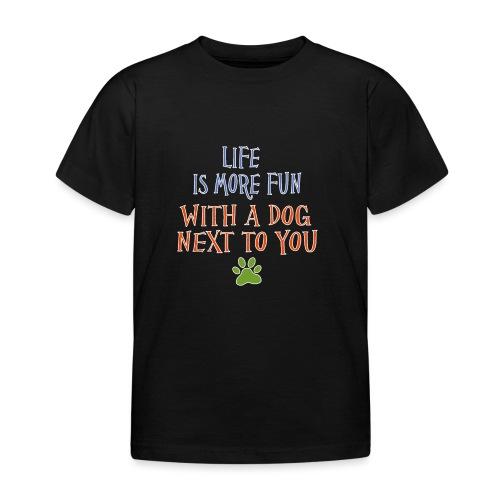 Hondenshirt met tekst - Kinderen T-shirt