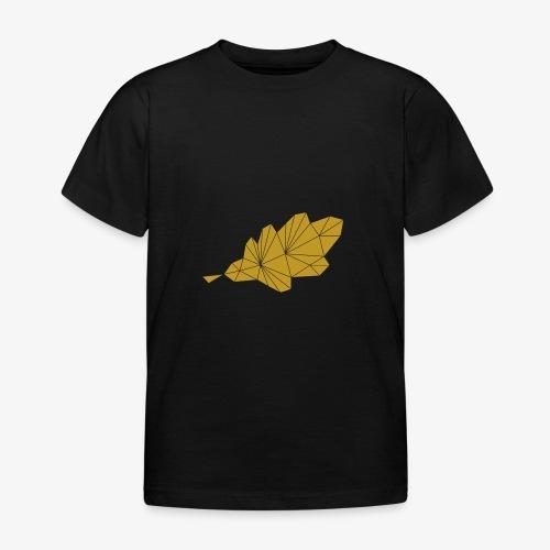 Eiche Blatt geometrisch - Kinder T-Shirt