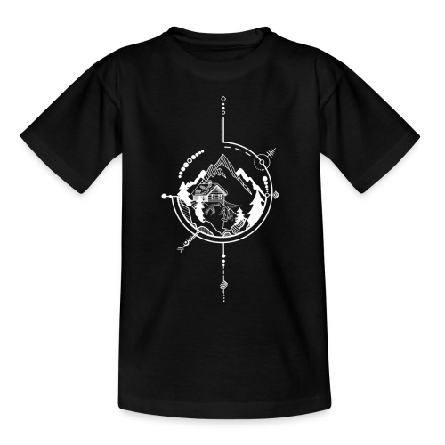 Cabin in the mountains - Kinderen T-shirt