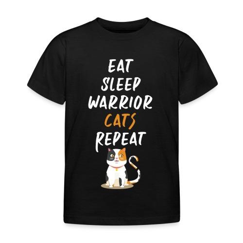 Eat sleep warrior cats repeat - T-shirt Enfant