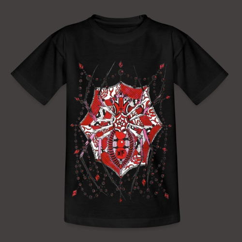 Spider Dentelle Red - T-shirt Enfant