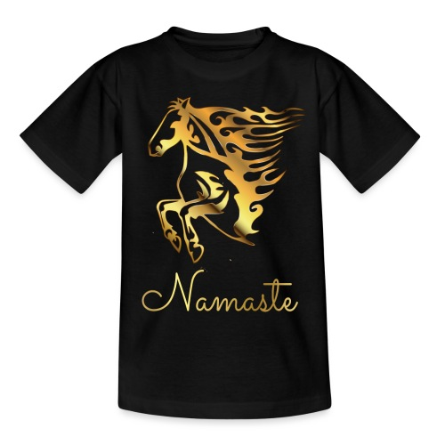 Namaste Horse On Fire - Kinder T-Shirt