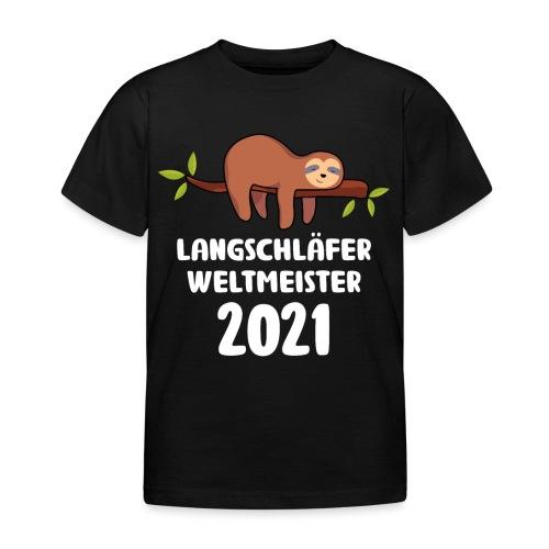 Faultier Spruch Schlafen Schlafshirt Geschenk - Kinder T-Shirt