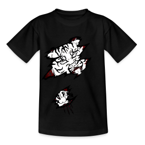 Böser Tiger - Kinder T-Shirt