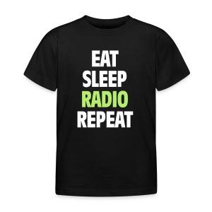 Eat Sleep Radio Repeat T-shirt - T-shirt barn