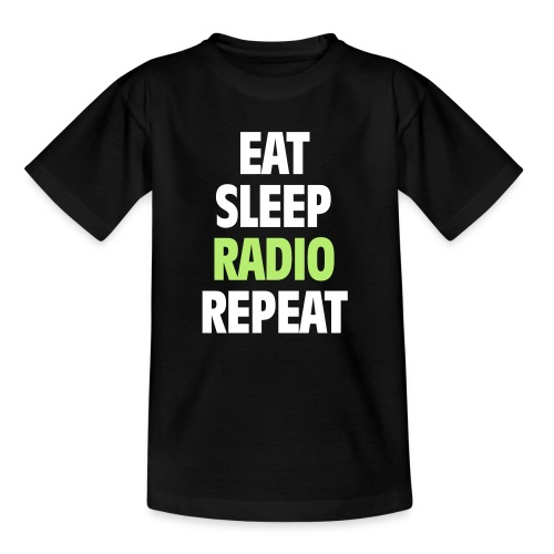 Eat Sleep Radio Repeat T-shirt - T-shirt barn