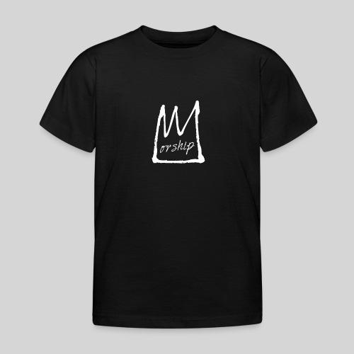 Worship Krone weiß - Lobpreis zu Jesus / Gott - Kinder T-Shirt