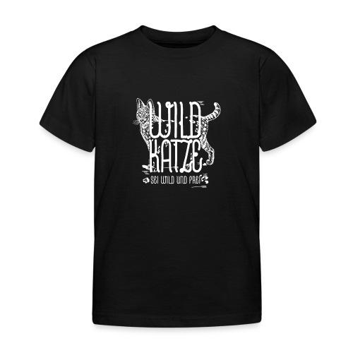 Wildkatze Weiss Geschenkidee - Kinder T-Shirt