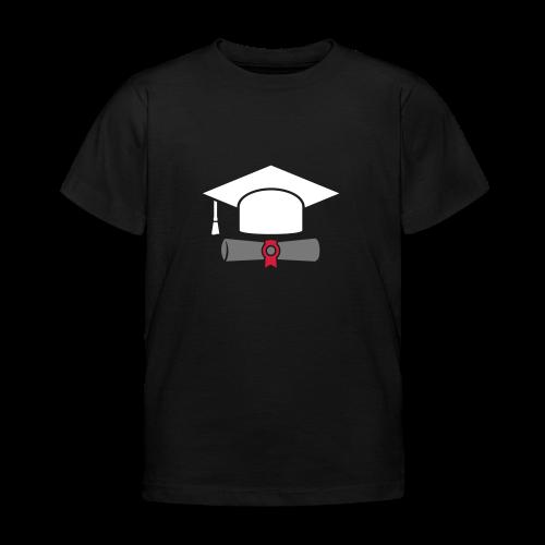 Doktorhut mit Zeugnis - Geschenk zum Abschluss - Kinder T-Shirt