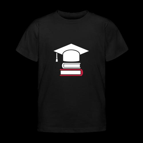 Doktorhut Studium Bücher - Geschenk zur Promotion - Kinder T-Shirt