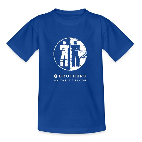 2 Brothers White text - Kids' T-Shirt