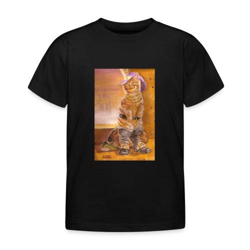 gatto_con_gli_stivali_-_su_foglio_da_disegno_-_pit - Maglietta per bambini