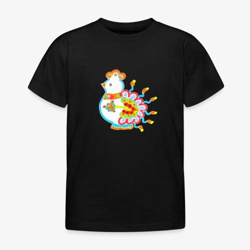 Vogel neon bunt - Kinder T-Shirt
