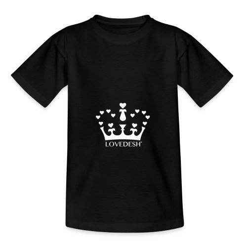 White Lovedesh Crown, Ethical Luxury - With Heart - Kids' T-Shirt
