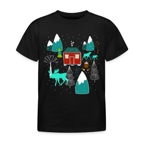 Weihnachten Elch I Geschenk Winterstimmung - Kinder T-Shirt
