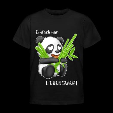 älskvärd Panda - T-shirt barn