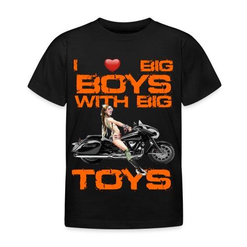 I love boys with big toys - Kinderen T-shirt