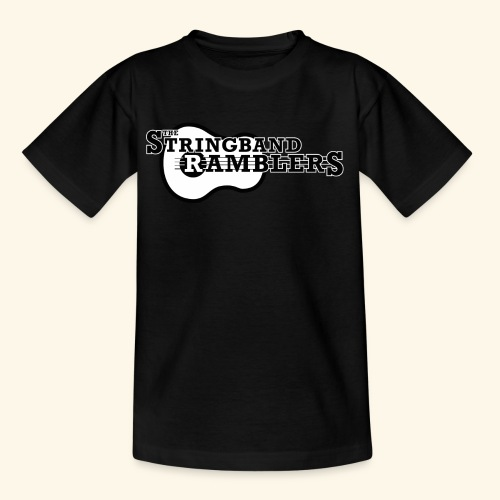 The Stringband RamblersLogo Black White - Kinder T-Shirt