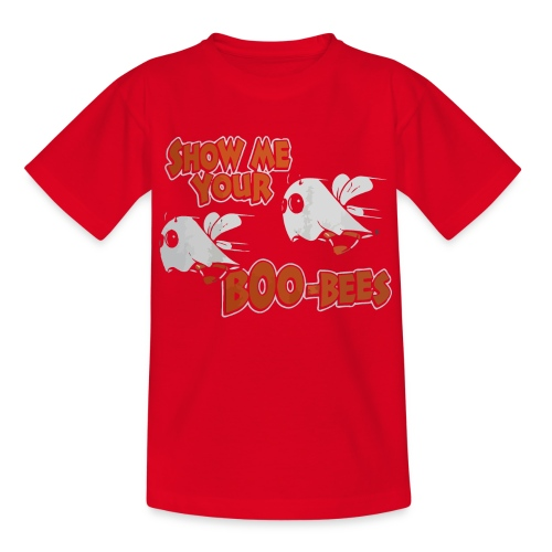 Show me your boo-bees funny halloween shirt - Kids' T-Shirt