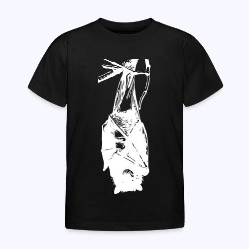 HangingBat weiss - Kinder T-Shirt