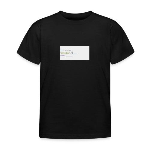 code - T-shirt Enfant