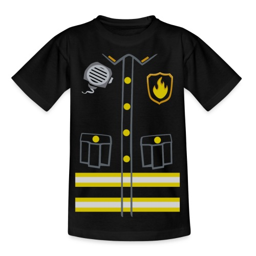 Fireman Costume - Dark edition - Kids' T-Shirt