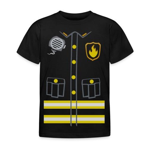 Fireman Costume - Dark edition - Kids' T-Shirt