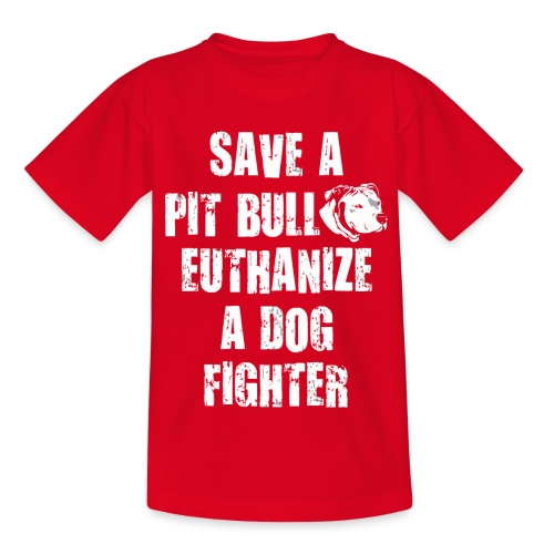Save a pit bull euthanize a dog fighter - Kids' T-Shirt