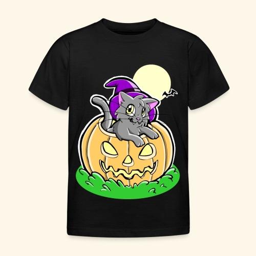 kürbiskatze.PNG - Kinder T-Shirt