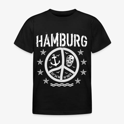 105 Hamburg Peace Anker Seil Koordinaten - Kinder T-Shirt