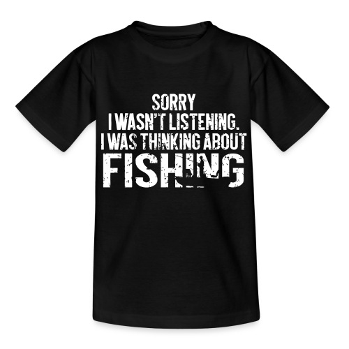 I was thinking about fishing - Kids' T-Shirt
