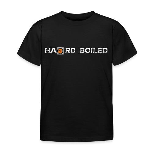 Schriftzug weiß orange - Kinder T-Shirt