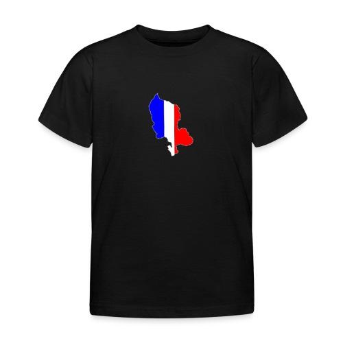 Carte Territoire de Belfort bleu blanc rouge - T-shirt Enfant