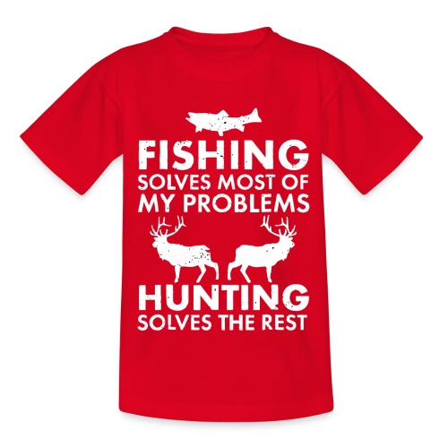 Fishing solves most of my problems - Kids' T-Shirt