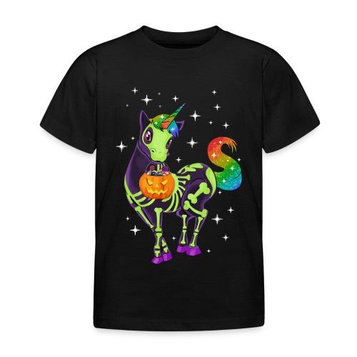 Unicorn pumpkin hallowen - Kids' T-Shirt