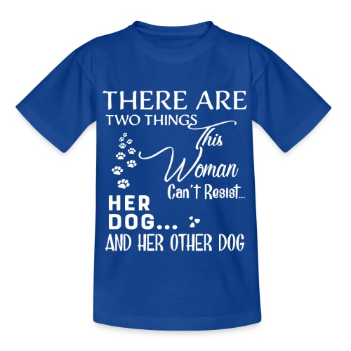 Her dog and her other dog shirt - Kids' T-Shirt