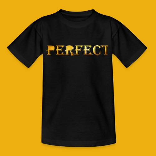 perfect metalic gold merch - Kids' T-Shirt