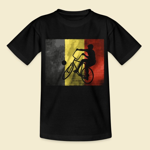 Radball | Flagge Belgien - Kinder T-Shirt