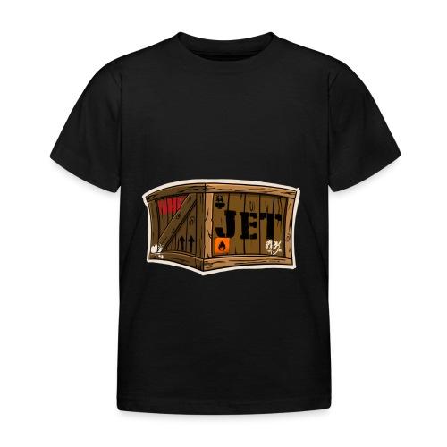 Jet Cartoon Wood Box - Kinder T-Shirt