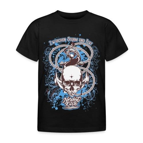 Skull Anker Design Art - Kinder T-Shirt