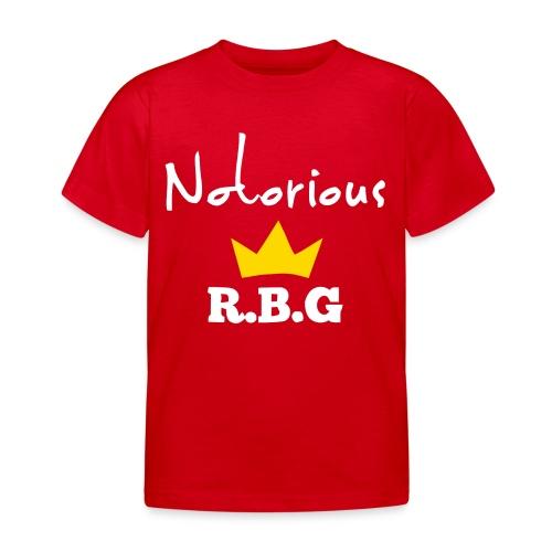 Notorious R.B.G ruth bader ginsburg shirt - Kids' T-Shirt