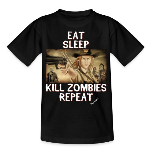Eat Sleep Kill Zombies - Kids' T-Shirt