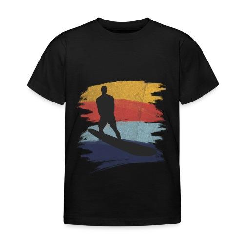 Wellenreiten Retro-Stil, Vintage - Kinder T-Shirt