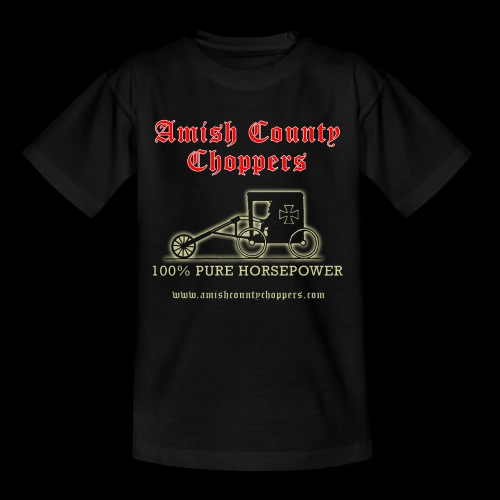 Amish County Choppers Horsepower - Kids' T-Shirt