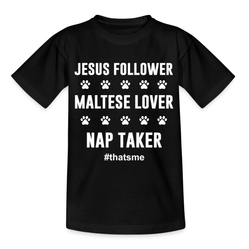 Jesus follower maltese lover nap taker - Kids' T-Shirt