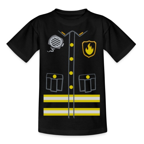 Kids Fireman Costume - Dark edition - Kids' T-Shirt